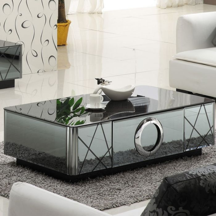 Magnificent Latest Mirrored Coffee Tables Within Coffee Tables Amazing On Round Coffee Cups Glass Coffee Table (Image 34 of 50)