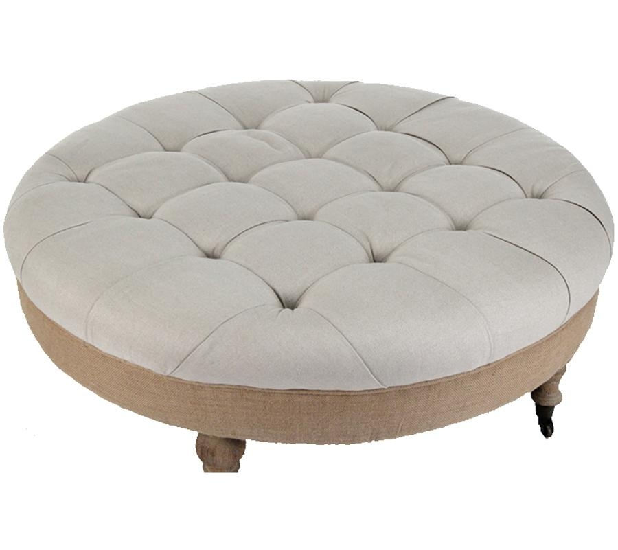 Magnificent Latest Round Upholstered Coffee Tables Pertaining To Coffee Table Awesome Round Ottoman Coffee Table Upholstered Large (Image 30 of 40)