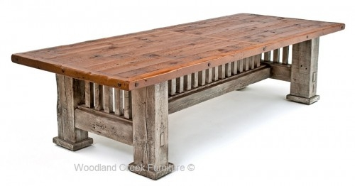 Magnificent Latest Rustic Barnwood Coffee Tables With Regard To Barnwood Dining Table Rustic Dining Tables Reclaimed Barnwood (View 22 of 50)