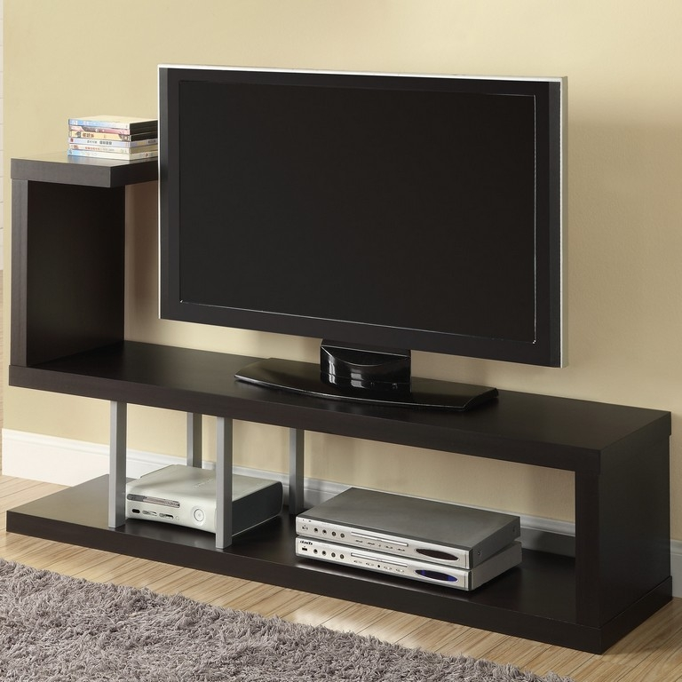 Magnificent Latest Small Black TV Cabinets Regarding 60 Inch Tv Stands Cheap Transdeco Td600es Tv Stand Featured Image (Image 32 of 50)