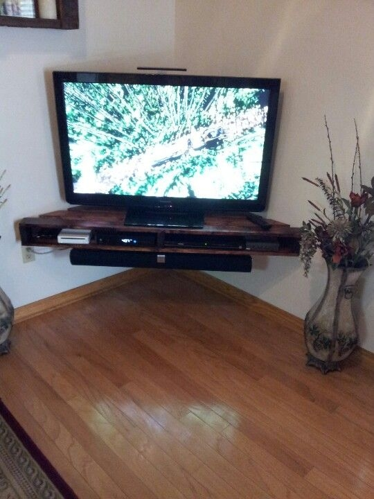 Magnificent Latest Small Corner TV Stands With Regard To Best 25 Corner Tv Shelves Ideas On Pinterest Corner Tv Small (View 31 of 50)