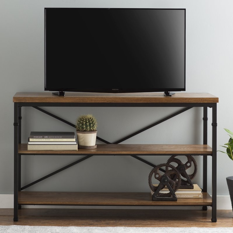 Magnificent Latest TV Stands And Computer Desk Combo Intended For Rustic Tv Stands Youll Love Wayfair (View 35 of 50)