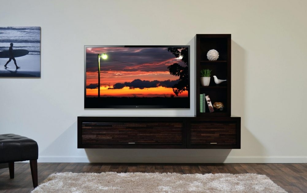 Magnificent Latest TV Stands Over Cable Box Inside Tv Hanging On Wall Flideco (Image 35 of 50)