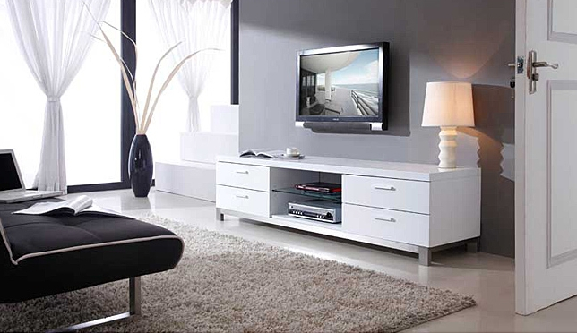 Magnificent Latest White Contemporary TV Stands Pertaining To 7 White Tv Stands For Your Living Room Cute Furniture (Image 34 of 50)