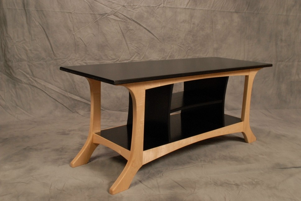 Magnificent Latest Widescreen TV Stands Throughout Black And White Wide Screen Tv Stand Finewoodworking (Image 33 of 50)