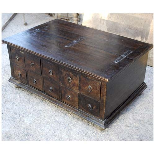 Magnificent Latest Wooden Storage Coffee Tables For Wood Storage Coffee Table With 10 Drawers (Image 34 of 50)
