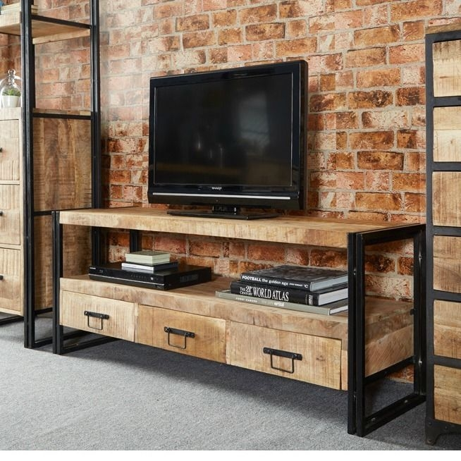 Magnificent Latest Wooden TV Cabinets Inside Best 20 Industrial Tv Stand Ideas On Pinterest Industrial Media (View 48 of 50)