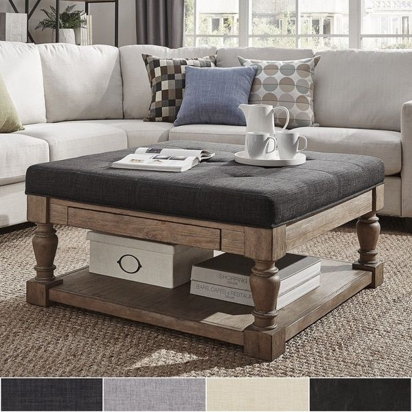 Magnificent New Beige Coffee Tables Throughout Best 20 Tufted Ottoman Coffee Table Ideas On Pinterest Ottoman (Image 30 of 40)