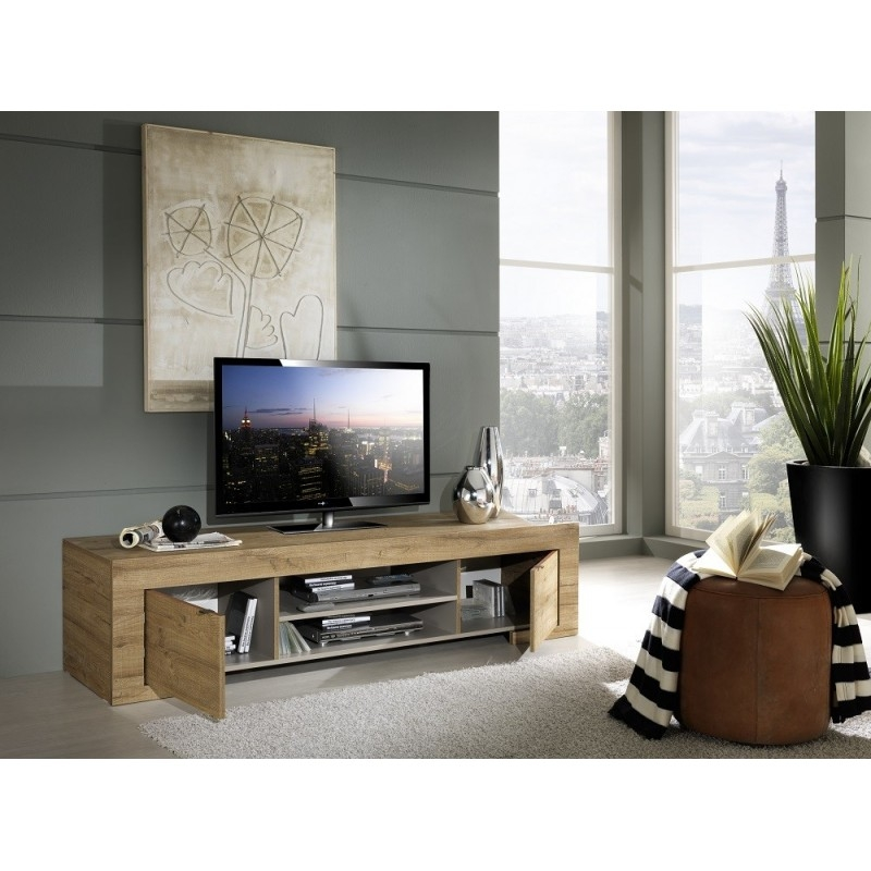 Magnificent New Grey Wood TV Stands Regarding Tv Stands Glamorous Tv Stand Oak 2017 Design Tv Stand Oak Light (Image 40 of 50)