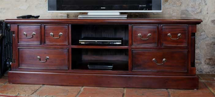 Magnificent New Mahogany TV Cabinets Within Featured Product La Roque Mahogany Widescreen Tv Cabinet Wfs Blog (View 9 of 50)