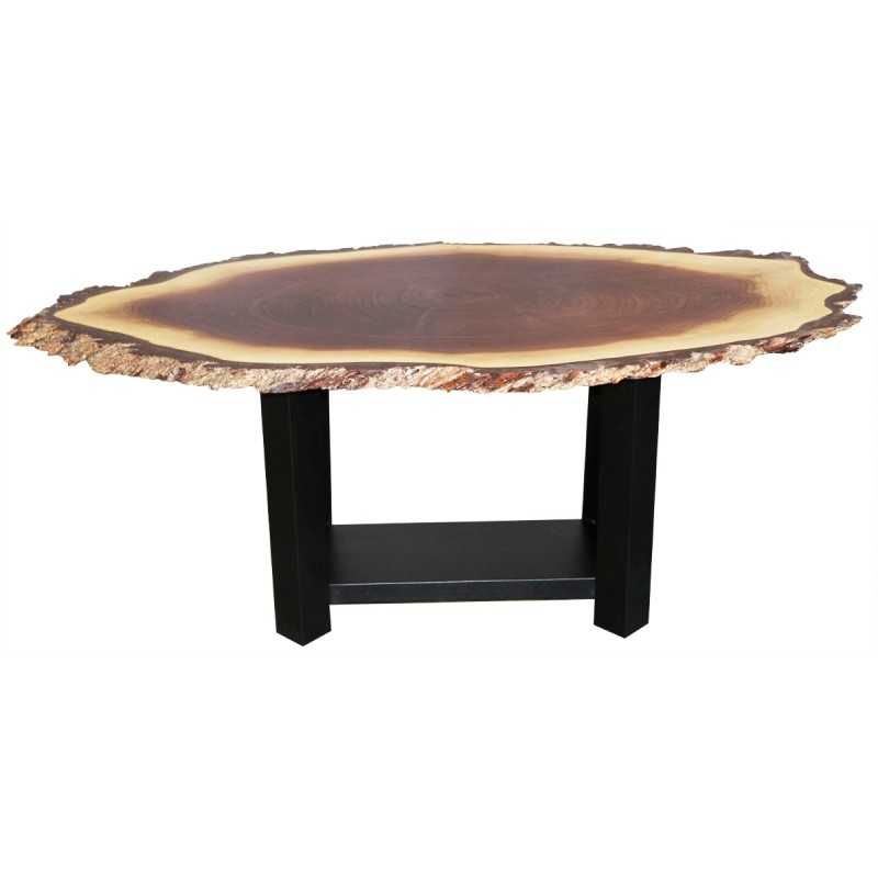 Magnificent New Oval Walnut Coffee Tables Within Walnut Live Edge Oval Coffee Table Amish Live Edge Coffee Table (Image 39 of 50)