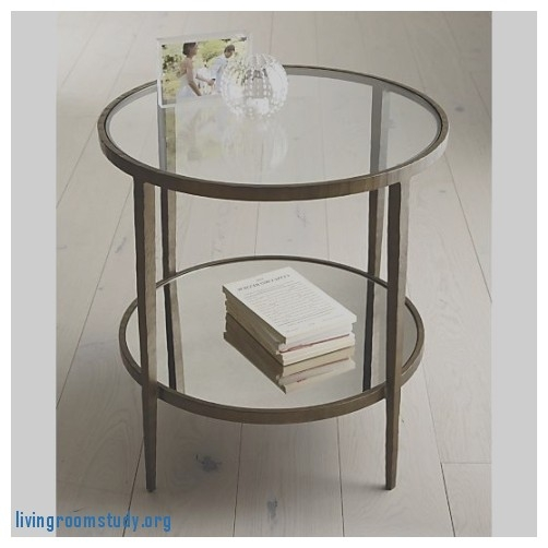 Magnificent New Retro Glitz Glass Coffee Tables Pertaining To End Tables Impressive Round Glass And Metal End Tables Round (Image 32 of 50)