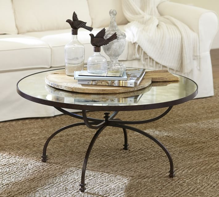 Magnificent New Small Mirrored Coffee Tables With Regard To Willow Coffee Table Pottery Barn (View 9 of 50)