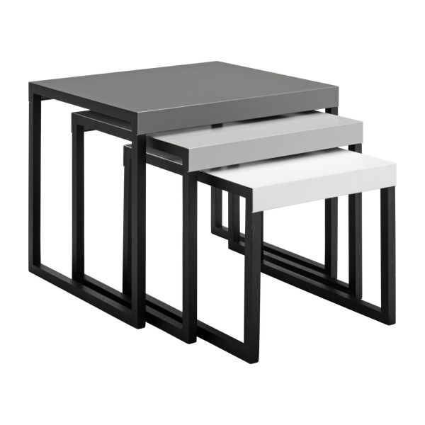 Magnificent New Stackable Coffee Tables Intended For Kilo Accent Tables Grey Wood Metal Habitat (View 25 of 50)