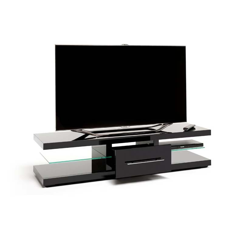 Magnificent New Techlink TV Stands Sale Regarding Techlink Echo Xl Series 75 In Tv Stand High Gloss Black Ec150b (Image 39 of 50)