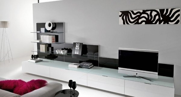 Magnificent New TV Stands For Small Rooms Inside Furniture Small Room Design With Recangle Black Minimalist Tv (View 47 of 50)