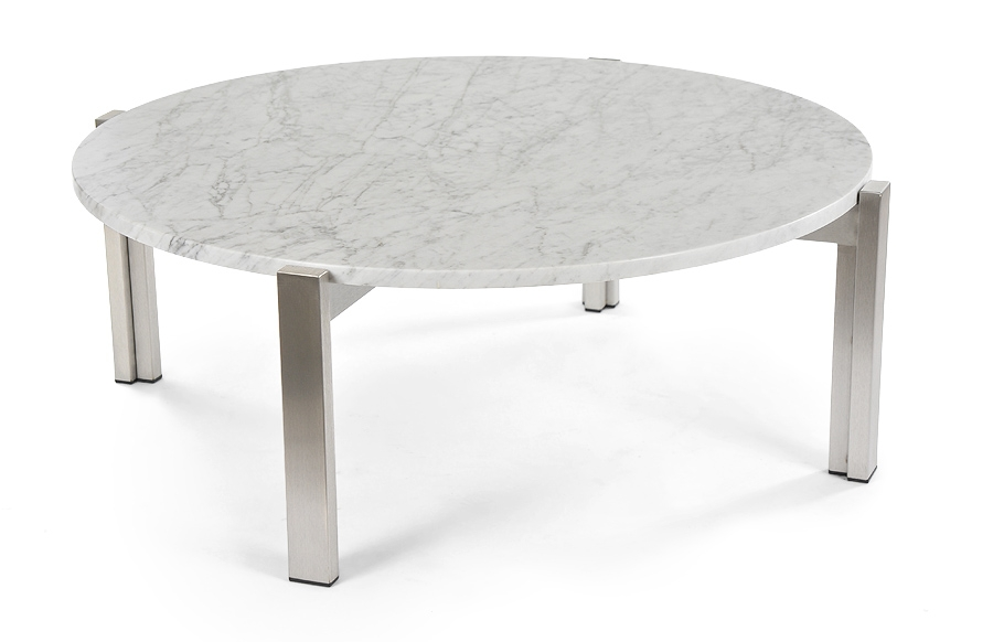 Magnificent New White Marble Coffee Tables Pertaining To Round Marble Coffee Table Idi Design (View 14 of 50)