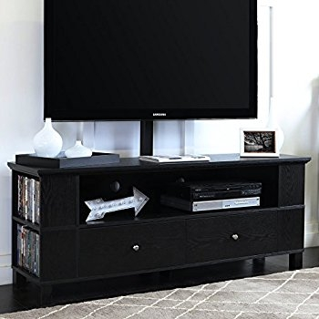 Magnificent Popular Black TV Cabinets In Amazon Walker Edison 58 Black Wood Storage Tv Cabinet (Image 37 of 50)
