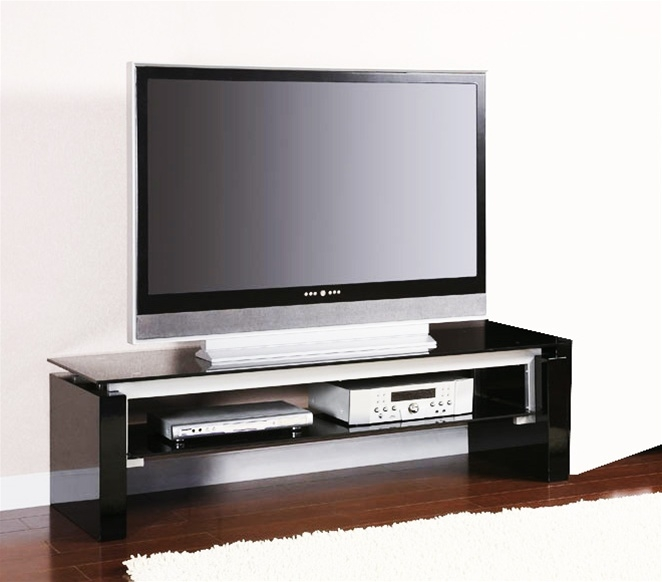 Magnificent Popular Black TV Stands For Black And Silver Tv Stand Coaster (View 43 of 50)