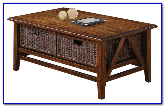 Magnificent Popular Coffee Tables With Baskets Underneath Within Coffee Table With Basket Storage Underneath Coffee Table Home (Image 27 of 40)