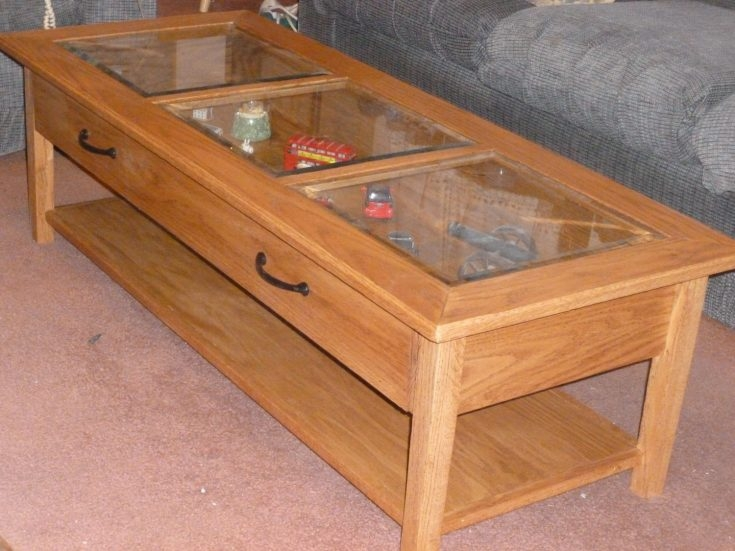Magnificent Popular Coffee Tables With Glass Top Display Drawer Regarding Coffee Table Display Case Zab Living Pine Glas Glass For Sale Top (Image 27 of 40)