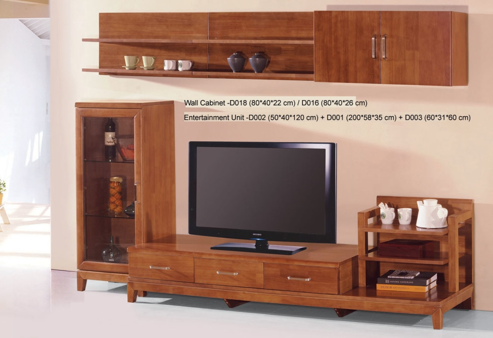 Magnificent Popular Country Style TV Stands Throughout Country Style Tv Stand Unit Idea In Honey Oak Finish With Three (View 20 of 50)
