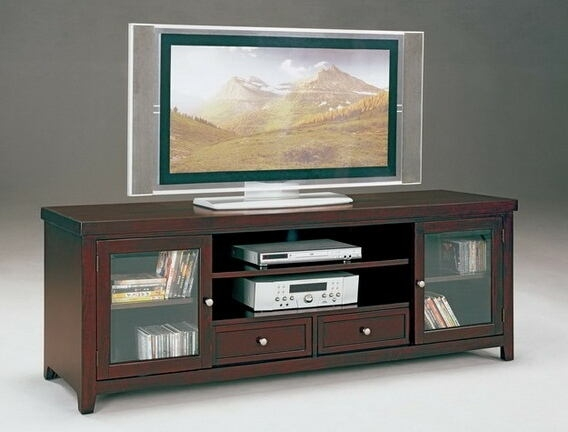 Magnificent Popular Dark Wood TV Stands With Norris Entertainment (Image 37 of 50)