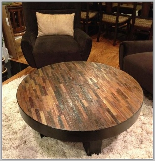 Magnificent Popular Large Rustic Coffee Tables Inside Large Round Rustic Coffee Table Coffee Table Home Decorating (View 36 of 50)