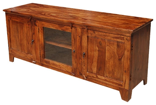 Magnificent Popular Long Wood TV Stands With Santa Fe Rustic Wood Tv Media Console Entertainment Centers And (Image 35 of 50)
