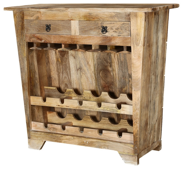 Magnificent Popular Mango Wood TV Cabinets With Regard To Modern Farmhouse Mango Wood Rustic Wine Bar Cabinet Farmhouse (Image 32 of 50)