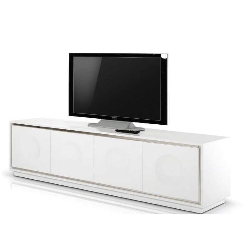Magnificent Popular Modern White Lacquer TV Stands Inside Modern White Crocodile Lacquer Tv Stand Ugalleryfurniture (Image 33 of 50)