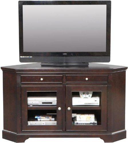 16 Best Tv Images On Pinterest: 50 Best Collection Of Oak Corner TV Stands For Flat