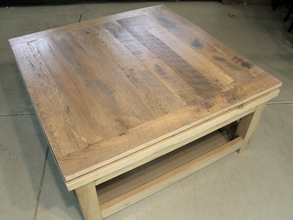 Magnificent Popular Oversized Square Coffee Tables Regarding Reclaimed Wood Square Coffee Table Wb Designs (View 17 of 50)