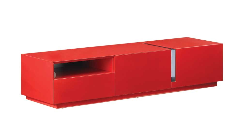 Magnificent Popular Red Modern TV Stands In Modern Tv Stand In Red High Gloss Jm Furniture Modern Manhattan (Image 33 of 50)