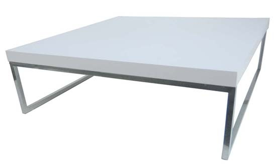 Magnificent Popular White Square Coffee Table Intended For Square White Coffee Table (Image 33 of 50)
