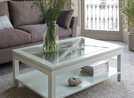 Magnificent Popular White Wood And Glass Coffee Tables Throughout Coffee Table White Glass Jerichomafjarproject (Image 31 of 40)