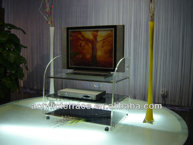 Magnificent Preferred Acrylic TV Stands With Regard To Swivel Acrylic Display Stand For Tv Acrylic Tv Riser Acrylic (View 9 of 50)