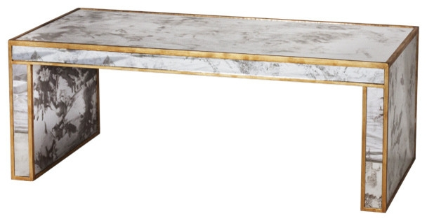 Magnificent Preferred Antique Mirrored Coffee Tables Pertaining To Spencer Hollywood Regency Antique Gold Mirror Coffee Table (View 5 of 40)