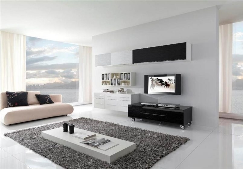 Magnificent Preferred Black TV Cabinets With Drawers Inside Living Room White Sofa Grey Carpet Coffee Table Black Tv Stand (Image 37 of 50)
