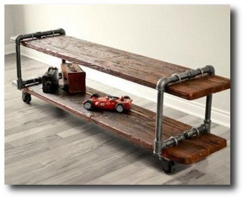 Magnificent Preferred Cast Iron TV Stands Throughout Make Your Own Vintage Industrial Cast Iron Pipe Table Tv Stand (Image 35 of 50)