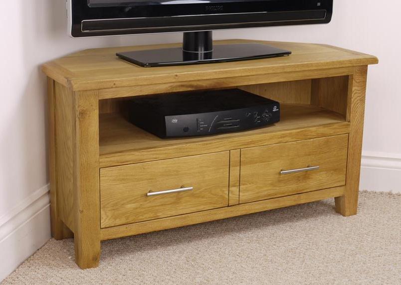 Magnificent Preferred Corner Oak TV Stands In Corner Tv Cabinets Ebay (View 8 of 50)
