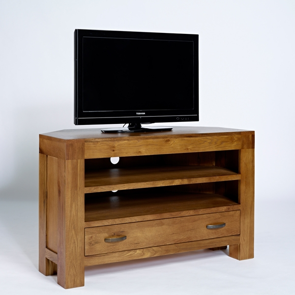 Magnificent Preferred Dark Oak Corner TV Cabinets For Dark Oak Corner Tv Unit Rustic Santana Oak (Image 34 of 50)