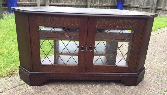Magnificent Preferred Dark Oak Corner TV Cabinets Throughout Dark Oak Corner Tv Cabinet In Eastbourne East Sussex Gumtree (Image 35 of 50)