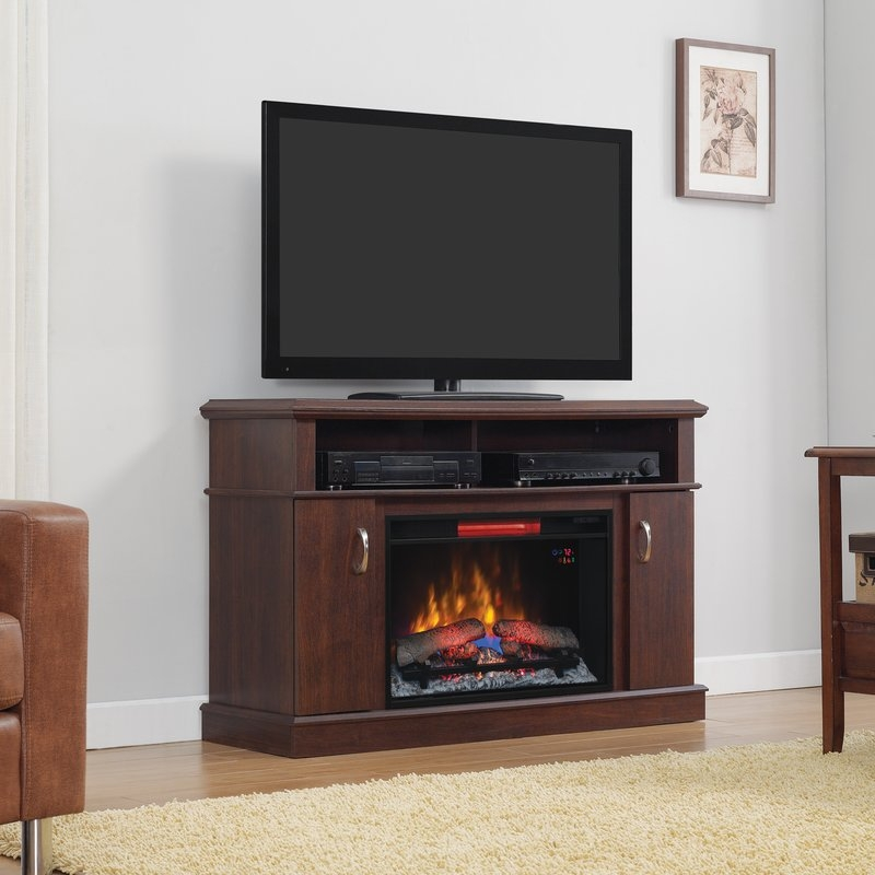 Magnificent Preferred Dwell TV Stands In Classic Flame Dwell Tv Stand For Tvs Up To 50 Reviews Wayfair (Image 36 of 50)