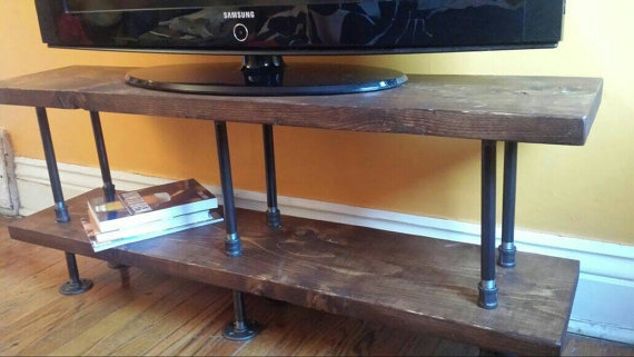 Magnificent Preferred Industrial TV Stands For Industrial Tv Stand Media Console Bookshelf Rustic Tv (Image 35 of 50)