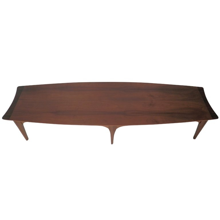 Magnificent Preferred Long Coffee Tables In Long Surfboard Style Mid Century Coffee Table For Sale At 1stdibs (Image 34 of 50)