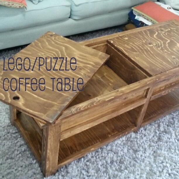 Magnificent Preferred Puzzle Coffee Tables In Making Stuff Our Legopuzzle Coffee Table Stinkysaurus Three (View 9 of 40)
