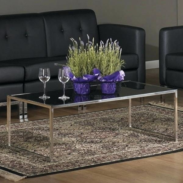 Magnificent Preferred Rectangle Glass Chrome Coffee Tables With Glass Chrome Coffee Table Dealhackrco (View 50 of 50)