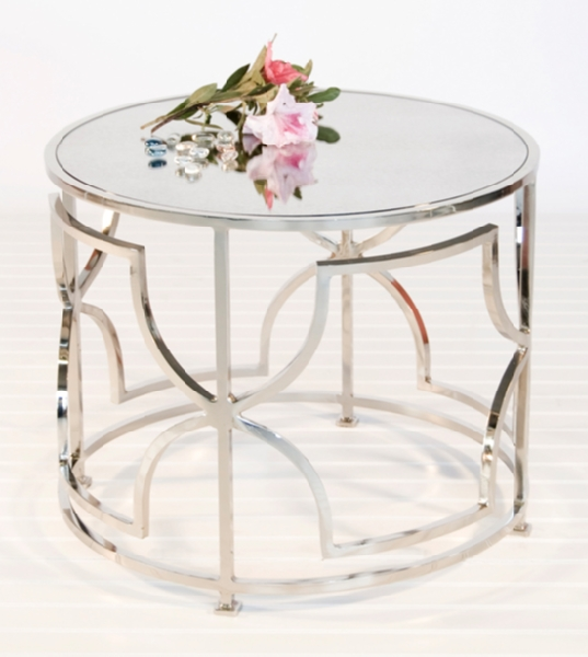 Magnificent Preferred Round Mirrored Coffee Tables Throughout Mirrored Round Table Starrkingschool (Image 30 of 40)