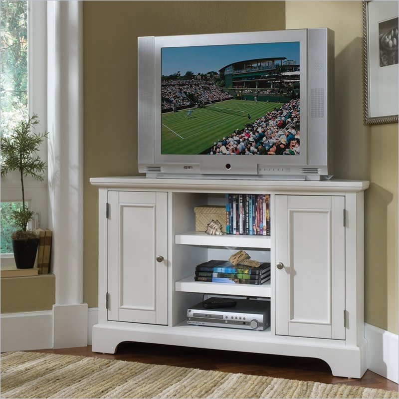 Magnificent Preferred Triangular TV Stands Throughout Tall Corner Tv Stand Designs And Images Homesfeed (Image 32 of 50)